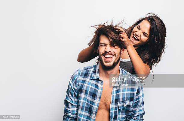 having fun - freaky couples stock photos and pictures