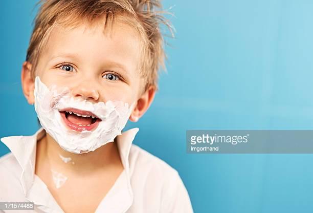 Having fun shaving