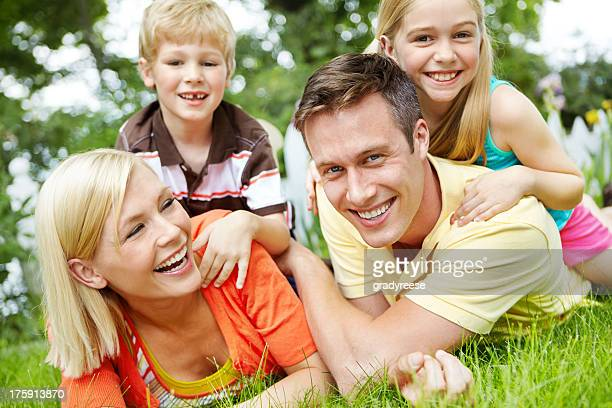 Having fun together as a family