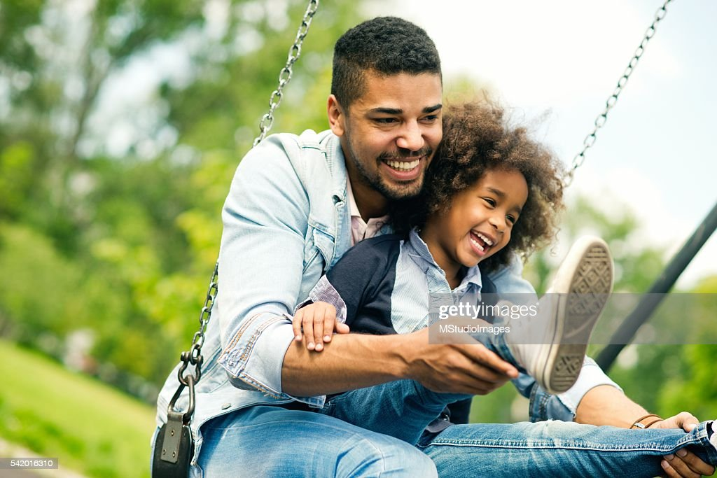Having fun with daughter. : Stock Photo