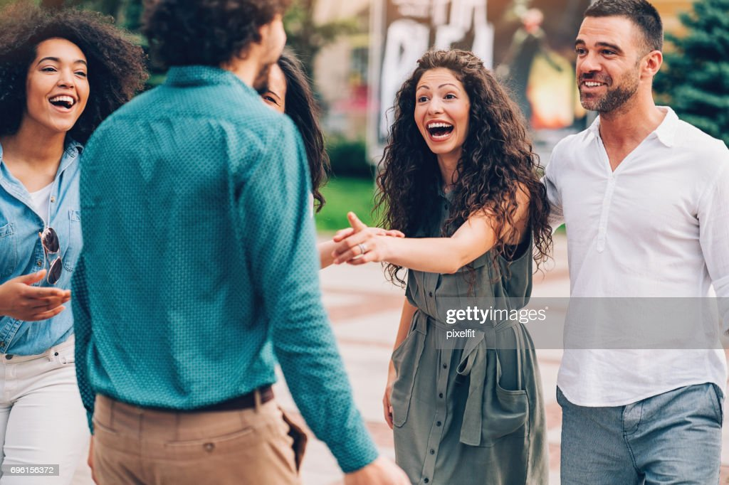Having fun with the friends : Stock Photo