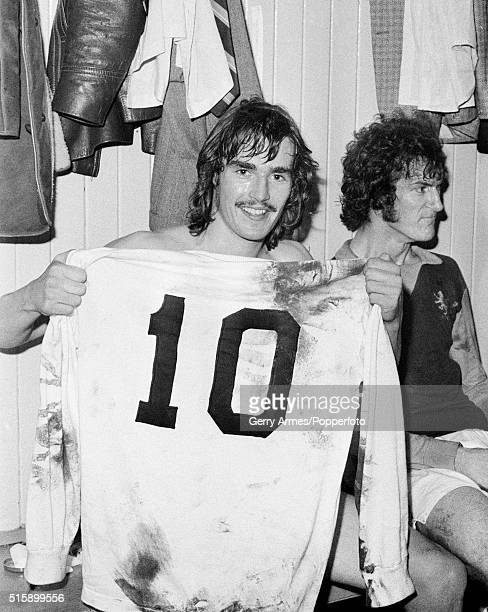 Having just made his debut for Aston Villa teenager Mick Hoban proudly holds the number 10 shirt worn by Brazilian legend Pele in the friendly match...