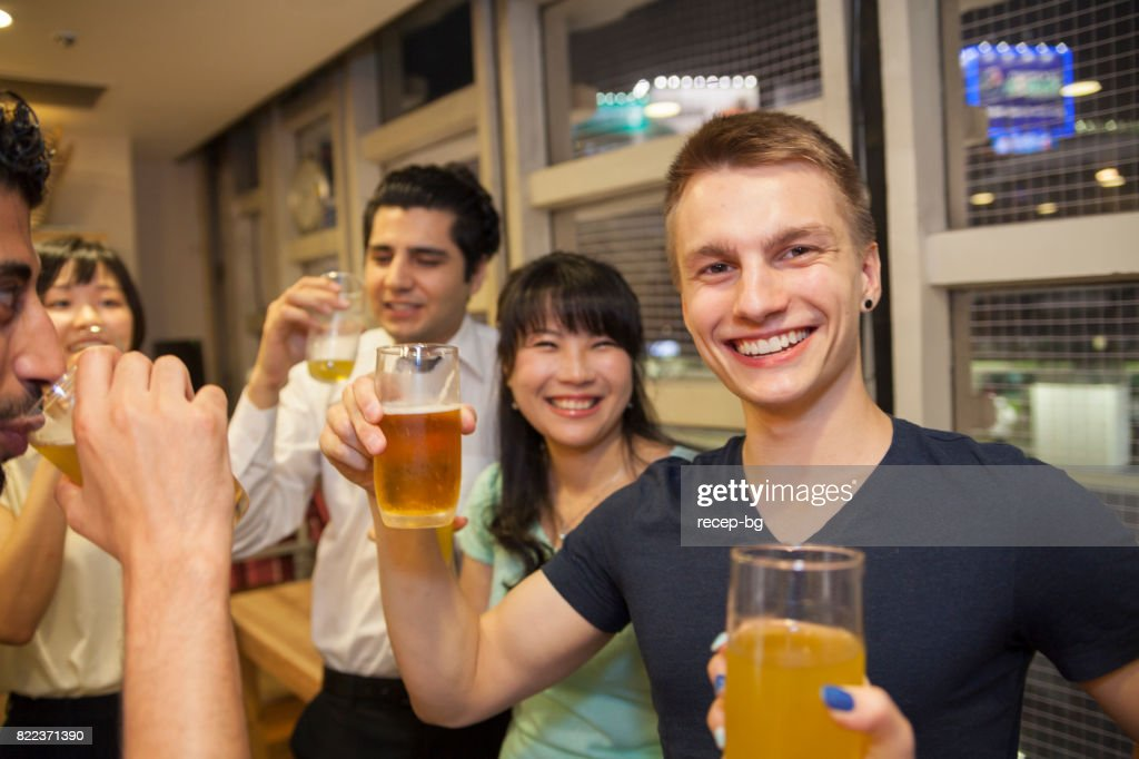 Having Party In The Office : Stock Photo