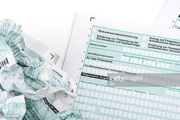 haben sie probleme mit steuerformulare - deutsche kultur stock-fotos und bilder