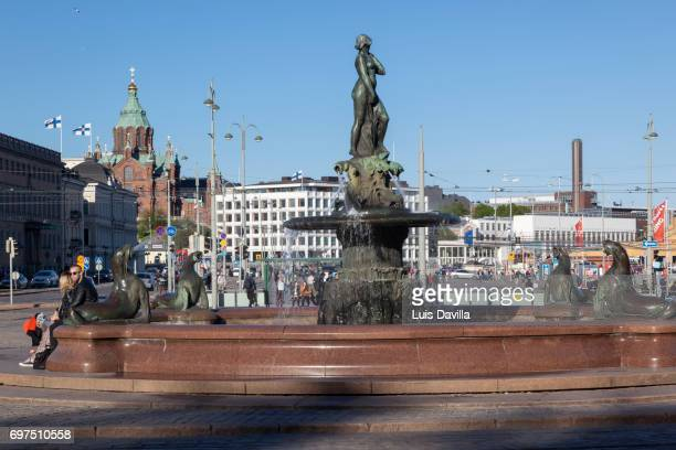Havis Amanda Nude Female Fountain Statue Market Square . Helsinki. Finland