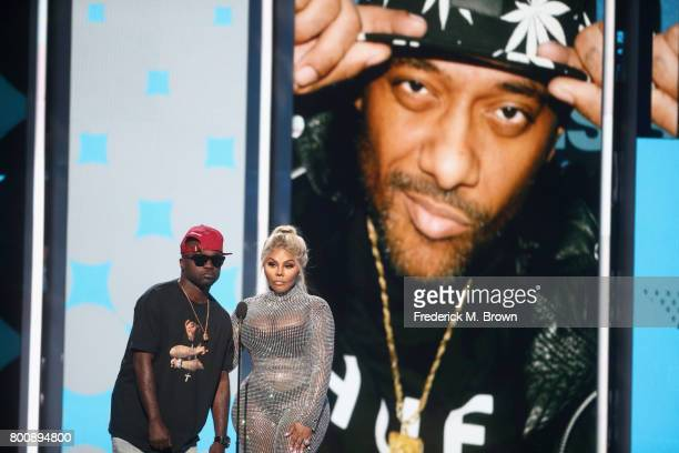 Havoc and Lil' Kim speak onstage at 2017 BET Awards at Microsoft Theater on June 25 2017 in Los Angeles California