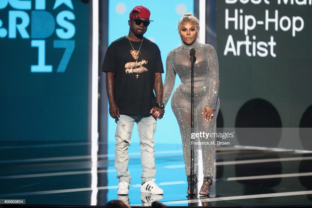 Havoc (L) and Lil' Kim speak onstage at 2017 BET Awards at Microsoft Theater on June 25, 2017 in Los Angeles, California.