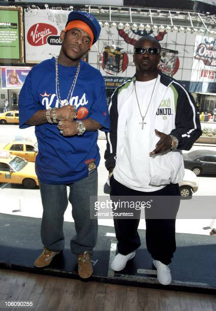 Havoc and Prodigy aka MOBB DEEP during MOBB DEEP Visit MTV 2 April 28 2006 at MTV Studios in New York City New York United States