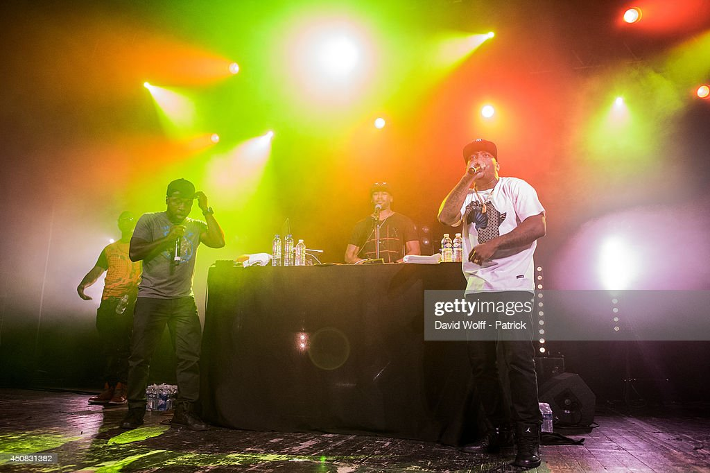 Havoc and Prodigy from Mobb Deep perform at Le Trianon on June 18, 2014 in Paris, France.