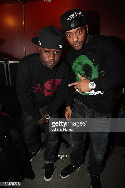 Havoc and Prodigy of Mobb Deep attend SOB's on November 30 2011 in New York City