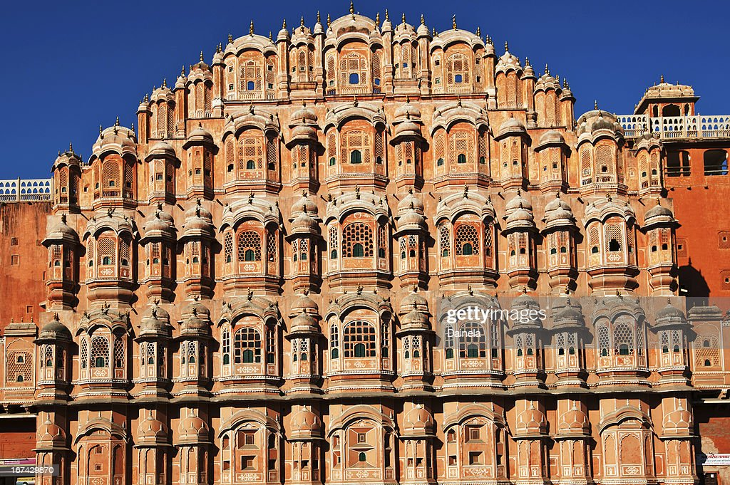 Hawa Mahal (der Palast der Winde) Jaipur, Indien : Stock-Foto