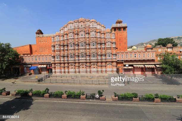 Hawa Mahal looks deserted as curfew was imposed in parts of Jaipur after latenight violence between locals and police triggered by an alleged assault...