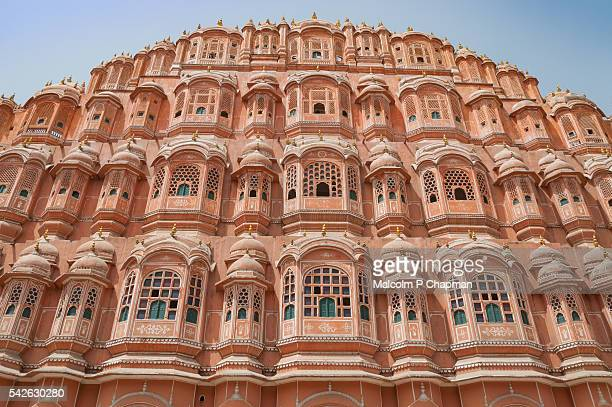 """hawa mahal, palace of winds, jaipur, rajasthan, india - india """"malcolm p chapman"""" or """"malcolm chapman"""" stock pictures, royalty-free photos & images"""