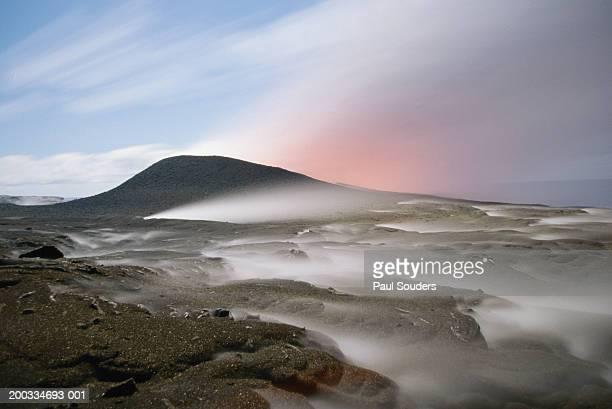 usa, hawaii, big island, volcanoes np, kilauea erupting - ハワイ火山国立公園 ストックフォトと画像
