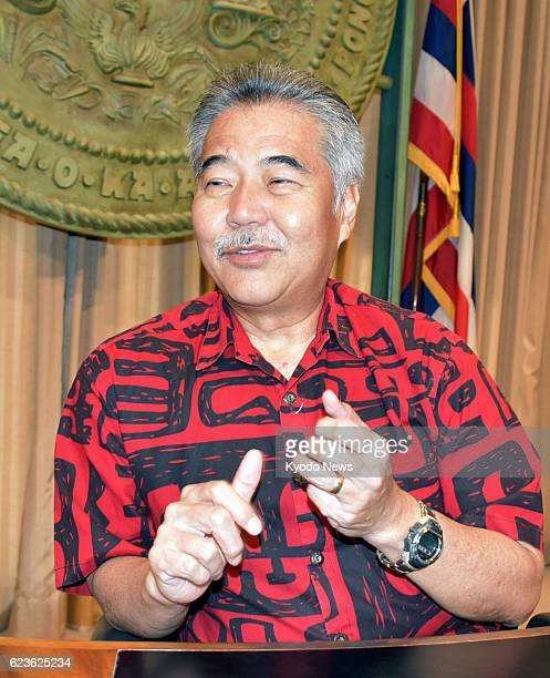 Hawaii Gov David Ige gives an interview to Kyodo News in Honolulu on Nov 15 2016 'As settles into the job of president and as he learns and...