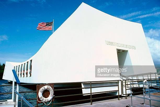 Hawaii, Honoluulu, Pearl Harbor, USS Arizona Memorial.