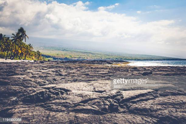 ハワイ諸島, 溶岩ビーチ - ハワイ火山国立公園 ストックフォトと画像