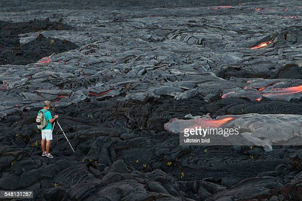 USA Hawaii Kalapana lava field at KilaueaSchildvulkan