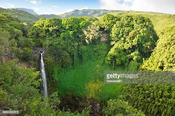 USA, Hawaii, Maui, Haleakala National Park, Makahiku Falls