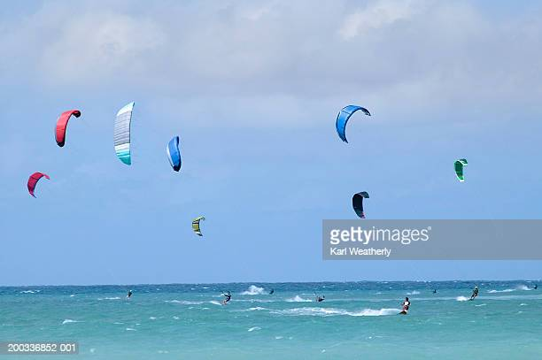 USA, Hawaii, Maui, people kitesurfing