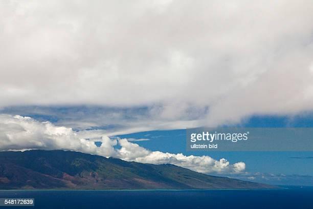 USA Hawaii Molokai Island Kalohi Channel Tradewinds bring clouds