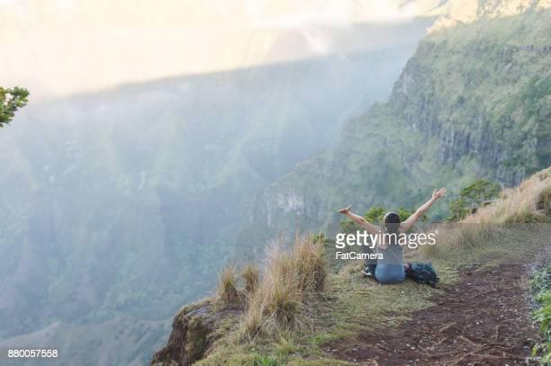 hawaii mountain hike - waimea canyon stock pictures, royalty-free photos & images