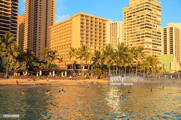 Hawaii, Oahu, Honolulu, Waikiki Beach