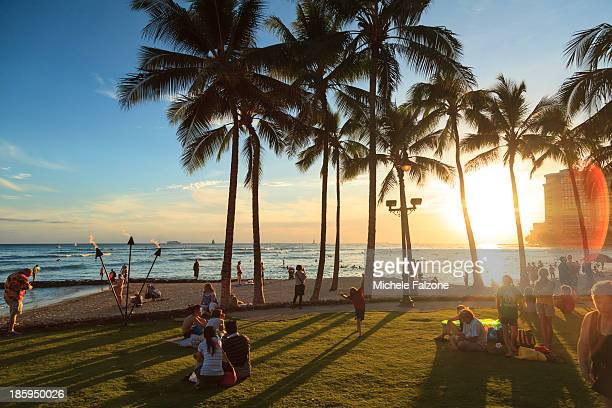 Hawaii, Oahu, Honolulu, Waikiki Beach