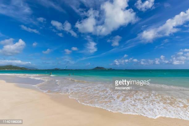 usa, hawaii, oahu, ka'o'lo point, beach - kailua stock pictures, royalty-free photos & images