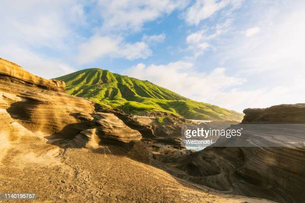 usa, hawaii, oahu, lanai, pacific ocean, coco crater at sunrise - hawaii islands stock pictures, royalty-free photos & images