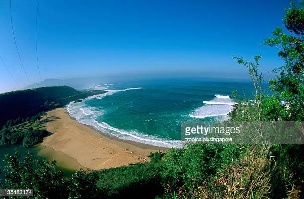 usa hawaii o'ahu, north shore, waimea bay. - waimea bay stock photos and pictures