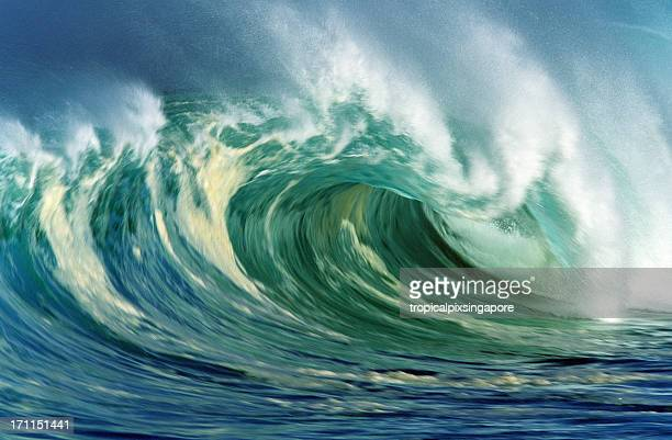 usa hawaii o'ahu, north shore waimea bay. - waimea bay hawaii stock photos and pictures