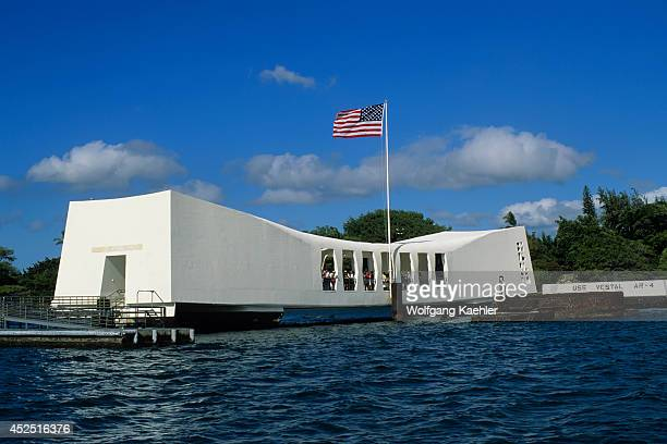 USA Hawaii Oahu Pearl Harbor Battleship Row Uss Arizona Memorial