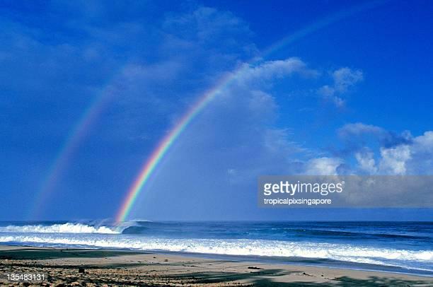 米国ハワイ O'ahu 、レインボーには太平洋が広がっています。