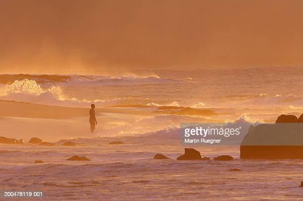USA, Hawaii, Oahu, Sunset Beach, dusk