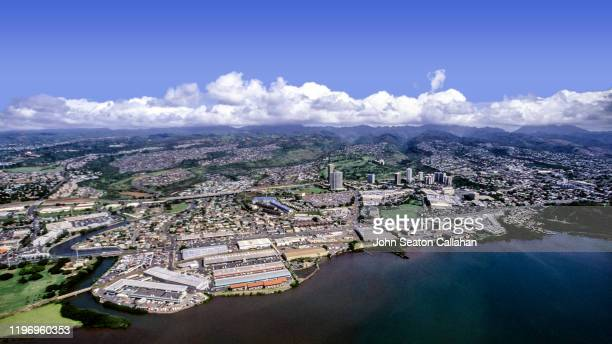usa, hawaii, pearl harbor and pearl city - category:census-designated_places_in_honolulu_county,_hawaii stock pictures, royalty-free photos & images