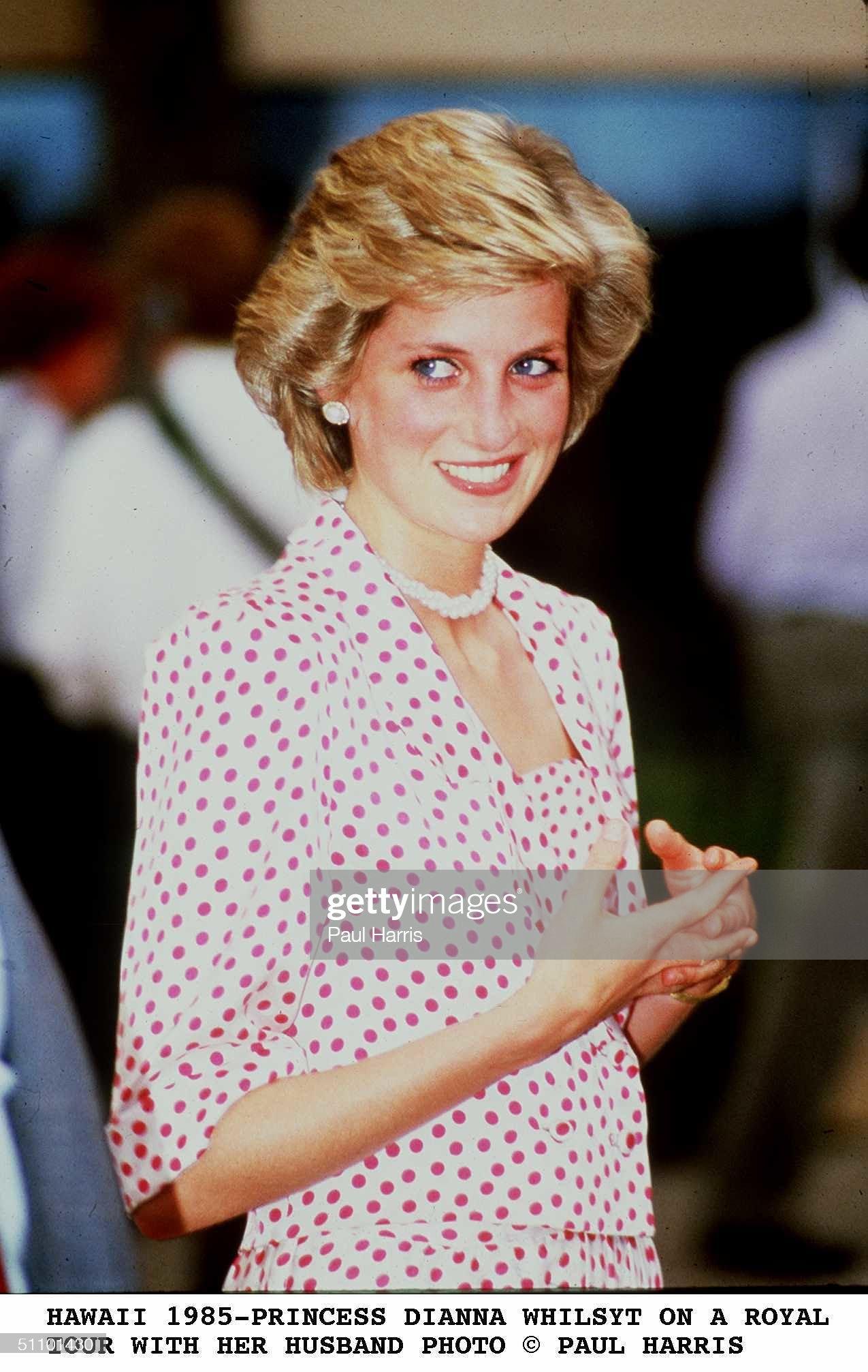 HawaII Princess Diana Whilst On A Royal Tour With Her Husband Paul Harris : News Photo