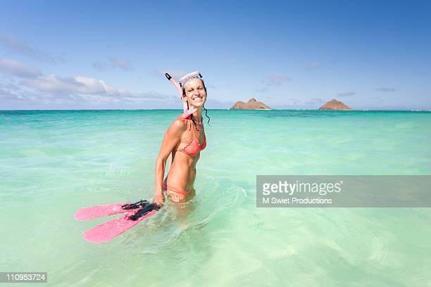hawaii snorkeling happy