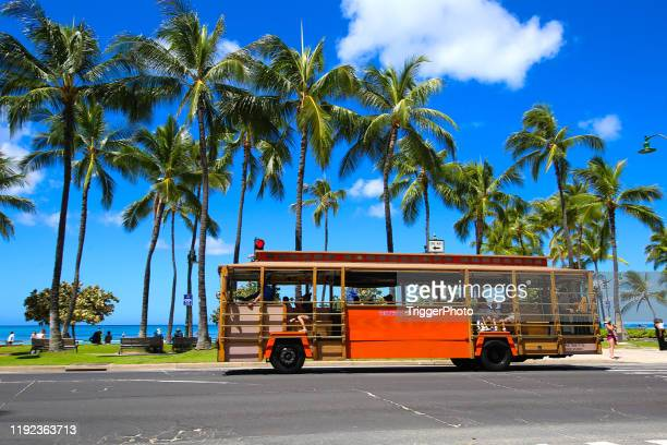 hawaii trolley - honolulu stock pictures, royalty-free photos & images