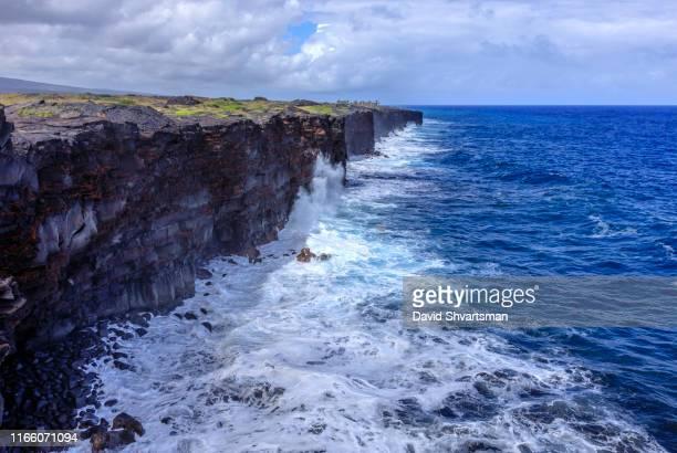 hawaii volcanoes national park, big island, hawaii, usa - kalapana stock pictures, royalty-free photos & images