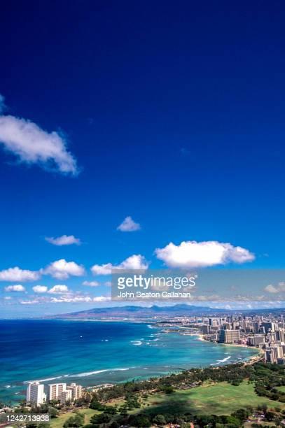 usa, hawaii, waikiki beach - media_in_honolulu,_hawaii stock pictures, royalty-free photos & images