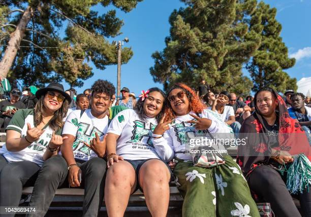 Hawaii Warriors fans cheer on the Warriors during the game between the Hawaii Warriors and the San Jose State Spartans on Saturday September 29 2018...