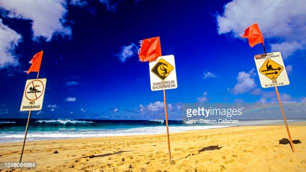 usa, hawaii, winter waves at ehukai beach park - hawaii flag stock pictures, royalty-free photos & images