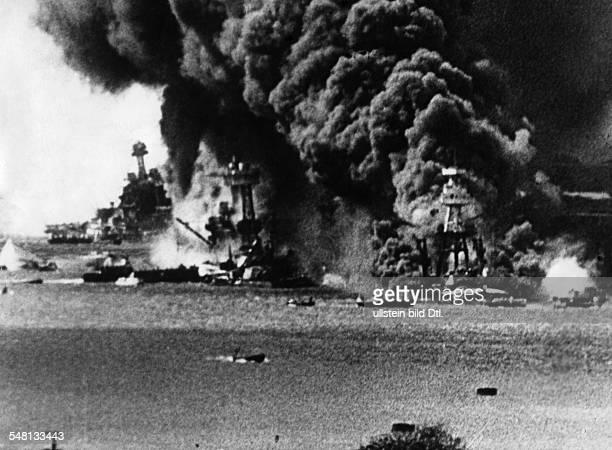 USA Hawaii World War II Attack on Pearl Harbor by Japan on December 7 1941 1941 Vintage property of ullstein bild