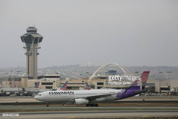 Hawaiian Airlines A330 at Los Angeles International Airport on June 28 2017 in Los Angeles California