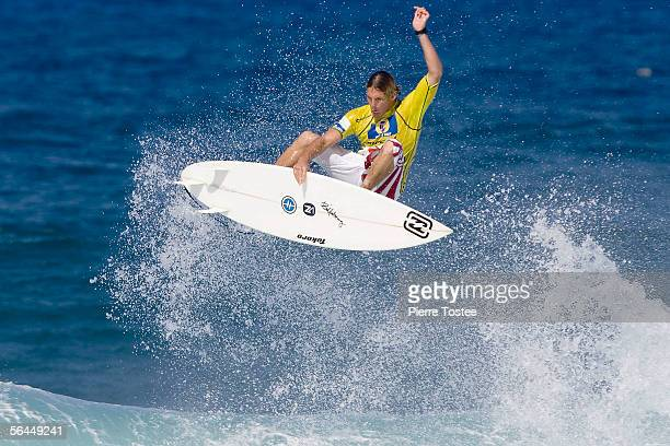 Hawaiian Andy Irons competes during the final of the Rip Curl Pro Pipeline Masters ASP World Tour event part of the Vans Triple Crown of Surfing on...
