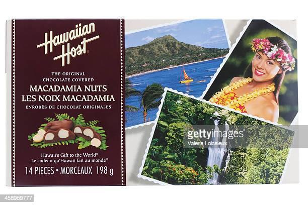 hawaiian host macadamia nuts - hawaiian waterfalls stock pictures, royalty-free photos & images