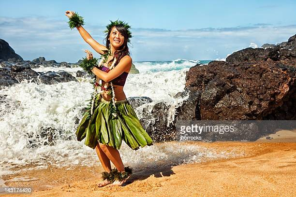 Hawaiian Hula Dancer on Beach