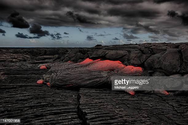 Hawaiian lava flow
