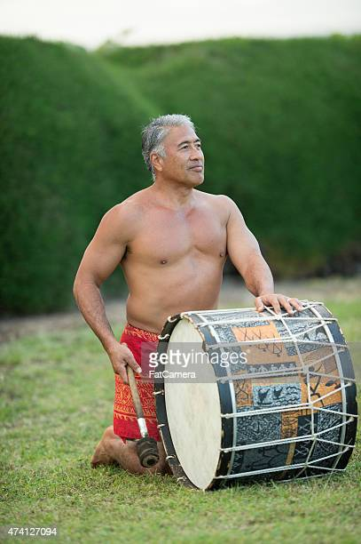 Hawaiian Luau Drummer